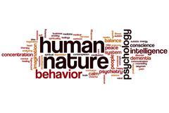 Human nature word cloud Stock Illustration