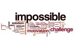 Impossible word cloud Stock Illustration