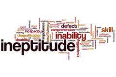 Ineptitude word cloud Stock Illustration
