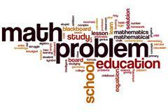 Math problem word cloud Stock Illustration