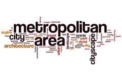 Metropolitan area word cloud Stock Illustration