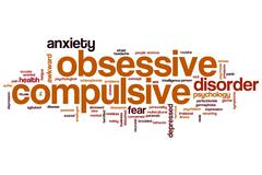 Obsessive compulsive word cloud Stock Illustration
