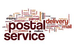 Postal service word cloud Stock Illustration