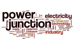 Power junction word cloud Stock Illustration