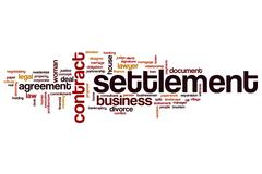 Settlement word cloud Stock Illustration