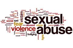 Sexual abuse word cloud Stock Illustration
