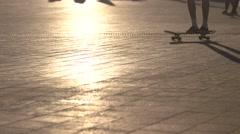 Trick on skateboard. Stock Footage