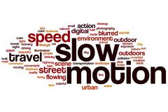 Slow motion word cloud Stock Illustration