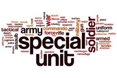 Special unit word cloud Stock Illustration