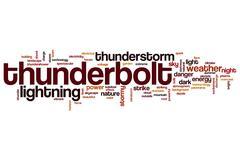 Thunderbolt word cloud Stock Illustration