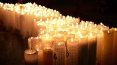 Candles in the temple Stock Footage