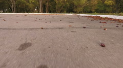 Flying over the asphalt road Stock Footage
