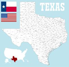 Texas county map Piirros