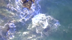 Aerial View of Pacific Ocean Stock Footage