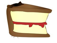 Cartoon Slice Of Cake Stock Illustration