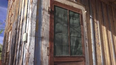 Porch, Narrow Gauge Railroad Station, pan Stock Footage