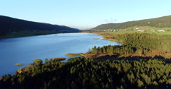 Jura mountain and lac des Rousses by aerial view Stock Footage