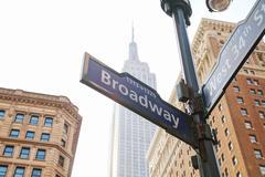 Broadway sign in New York Kuvituskuvat