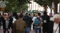 Anonymous crowds in England Stock Footage