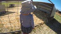 Kids playing on the farm in the Autumn. Stock Footage