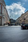 Crossroads on Nevsky Prospekt, St. Petersburg, Russia Stock Photos