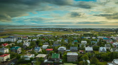 Reykjavik City View Stock Footage