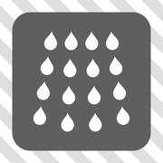 Drops Rounded Square Button Stock Illustration