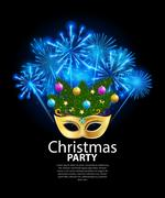 Abstract Beauty Merry Christmas and New Year Party Background wi Piirros
