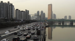 Han river traffic Stock Footage