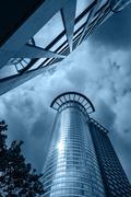 Westend tower skyscraper. Kuvituskuvat