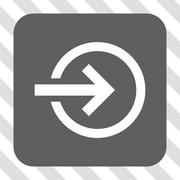Import Rounded Square Button Stock Illustration