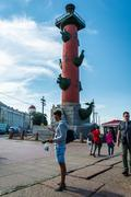 Rostral Column in Saint Petersburg, Russia Stock Photos