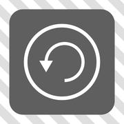 Rotate CCW Rounded Square Button Stock Illustration