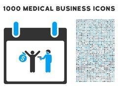Arrest Calendar Day Icon With 1000 Medical Business Symbols Stock Illustration