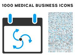 Cyclone Calendar Day Icon With 1000 Medical Business Symbols Stock Illustration