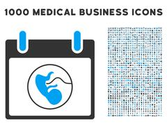 Embryo Calendar Day Icon With 1000 Medical Business Symbols Piirros