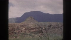 1961: it is beautiful greenery seen in tempting atmosphere with mountain  Stock Footage