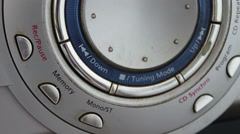 Hi-Fi stereo system close up view Stock Footage