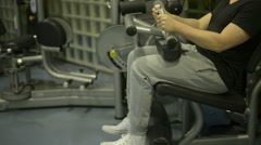 Seated Leg Curl Stock Footage