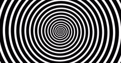 Swirling hypnotic spiral-4-01-na4 Stock Footage