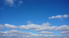 Clouds in the blue sky above the city. Timelapse Stock Footage