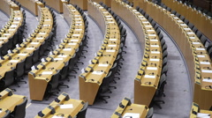 The European Parliament hemicycle Stock Footage