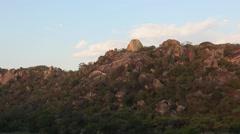 Granite Landscape of Matabo National Park, Zimbabwe Stock Footage