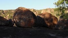 Granite boulders in Matobo National Park, Zimbabwe Stock Footage