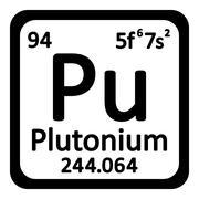 Periodic table element plutonium icon. Stock Illustration