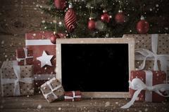 Nostalgic Christmas Tree With Copy Space, Snowflake Kuvituskuvat