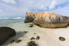 Anse Nord D'Est in the north of Mahe, Seychelles Stock Photos