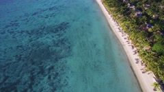 Aerial View: Trou aux Biches Beach, Mauritius Stock Footage