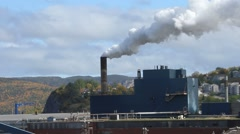 Industries at cornerbrook, Newfoundland, Canada Stock Footage