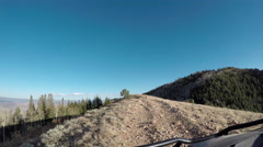 Trail ride 4x4 off road mountain top recreation POV 4K Stock Footage